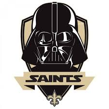 new orleans saints darth vader star wars logo decal