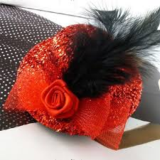 feather mini top hat hair