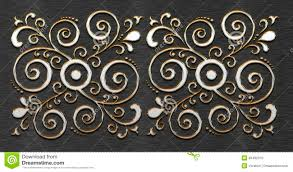 metal texture with classic ornament stock photo image 39492370