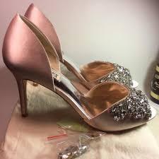 Light Pink Wedding Shoes Badgley Mischka Candance Light Satin Wedding 8 5 M Pink Pumps On