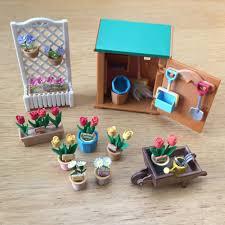 Sylvanian Families Garden - sylvanian families rare retired garden shed set ebay sylvanian
