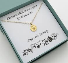 graduation gift gold compass necklace graduation gift for marciahdesigns