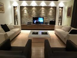 Modern Wall Units Living Room by Stone Wall Unit Living Room Interior Decorating Designs