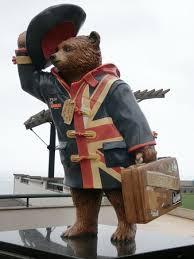 paddington bear statue picture miraflores boardwalk lima