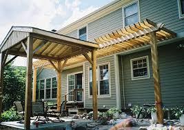 custom wood u0026 composite decks in niles rustic woodmen