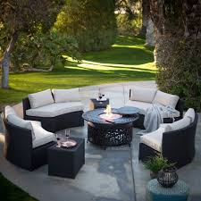 Corner Fire Pit by Excellent Bj Patio Furniture Slate Top And Curved Corner Wicker