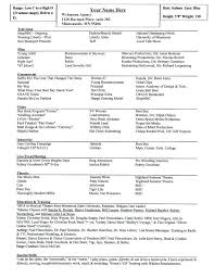 musical theatre resume template musical theatre resume template word exles of special skills