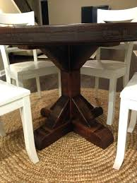 Pine Pedestal Dining Table Rustic Pedestal Dining Table U2013 Mitventures Co