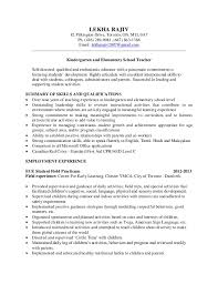 Sample Resume For Educators by Cover Letter Sample Kindergarten Teacher Resume Sample Resume Pre