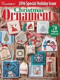 just cross stitch 2016 christmas ornament issue magazine