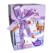 english tea shop white christmas gift box 6x12 prism tea bags