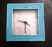 kate spade desk clock kate spade cross pointe small square clock turquoise enamel silver