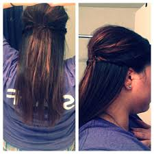 poof at the crown hairstyle simple half up hair style just poof at the crown and bobby pin