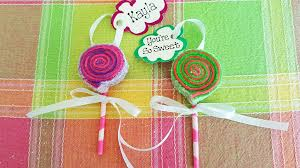 sweet as diy lollipop felt ornaments