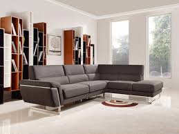 Modern Brown Sofa Casa Navarro Modern Brown Fabric Sectional Sofa W Right Facing Chaise