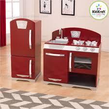 Play Kitchen Red Appealing Kidkraft Busy Bakin Play Kitchen Kitchens At Hayneedle