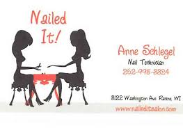 It Technician Business Card Nailed It Nail Salon In Racine Wi Relylocal