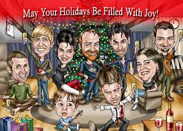 caricature and cards