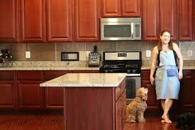 what backsplash looks with cherry cabinets how to install an easy backsplash without a saw diy