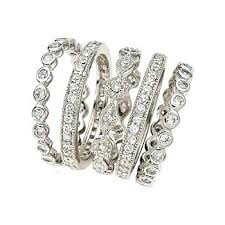stackable diamond rings diamond stacking rings birthdy micro pave diamond stackable rings