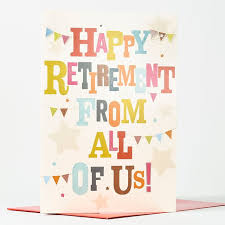 retirement card retirement card from us all only 99p