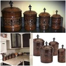 fleur de lis canisters for the kitchen antique fleur de lis vintage canister set for kitchen flour sugar