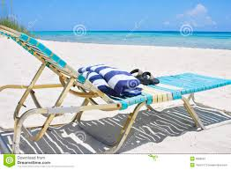 Beach Lounge Chair Caribbean Beach Lounge Chair Royalty Free Stock Photography