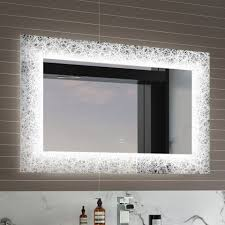 Illuminated Led Bathroom Mirrors by 8 Best Lighted Image Led Bordered Illuminated Mirror Large