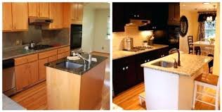 Black Kitchen Cabinets by Painted Black Kitchen Cabinets Before And After Black Kitchen