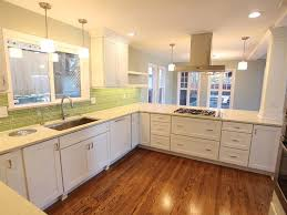 remodeled seattle kitchen after opening wall has white shaker