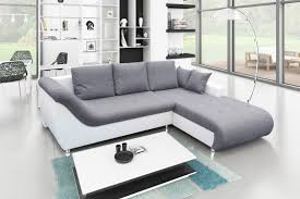 canapé d angle convertible tudor gris blanc achat vente canapé