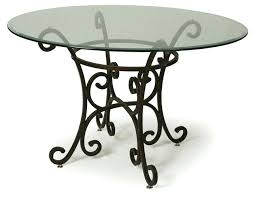glass top tables with metal base glass top tables glass top dining table with wrought iron base in