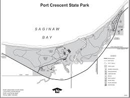 Michigan State Parks Map by Port Crescent State Park Maplets