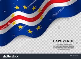 Flag Cape Waving Flag Cape Verde On Transparent Stock Vector 710267860
