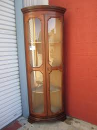 curio cabinet amusing red wooden color kitchen corner curio