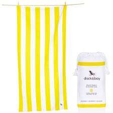 details about yellow stripe large 63x31 cabana design beach towel