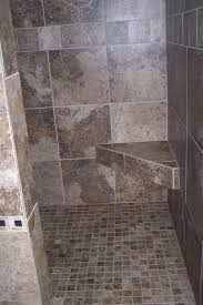 bathroom design doorless shower design ideas with granite wall