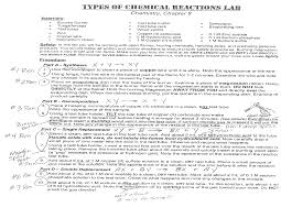 chem215 engelhardt types of chemical reactions pre lab notes
