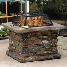 Bbq Firepit Outdoor Garden Patio Pit Brazier Bbq Firepit Square Metal