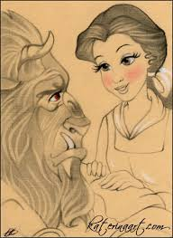beauty and the beast sketch fest 33 by katerina art on deviantart