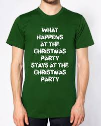 what happens at the christmas party t shirt funny joke secret