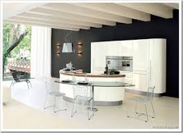 oval kitchen island luxury kitchen design