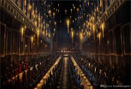 2018 7x5ft harry potter hogwarts dining hall lunch candles custom