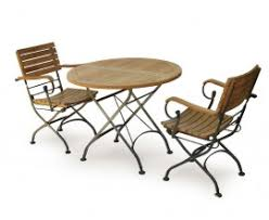Folding Bistro Table And 2 Chairs Bistro Dining Sets Teak U0026 Metal Patio Furniture Sets