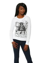womens wars black white cast pullover sweater