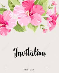 Text For Invitation Card Flower Garland For Invitation Card Invitation Card Template