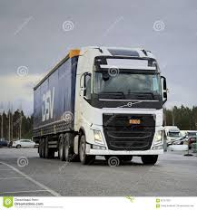 volvo truck center white volvo fh semi on a yard editorial photography image 62757332