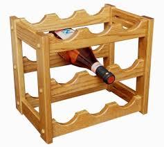 amish handcrafted 9 bottle countertop wine rack