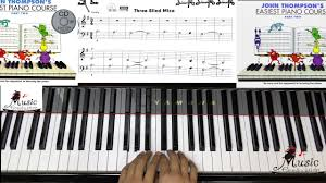 Three Blind Mice Piano Notes Page 14 Three Blind Mice John Thompson U0027s Easiest Piano Course Part