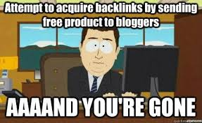 Make Meme Online Free - attempt to acquire backlinks by sending free product to blog